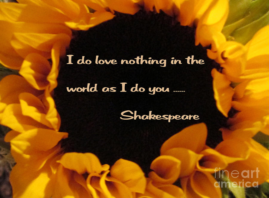 Shakespeare Digital Art - Love Nothing As I Do You  by Patricia Januszkiewicz