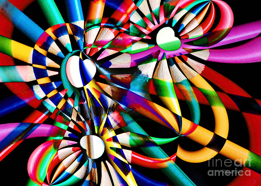 Abstract Photograph - Love Of Color Abstract by Cheryl Davis