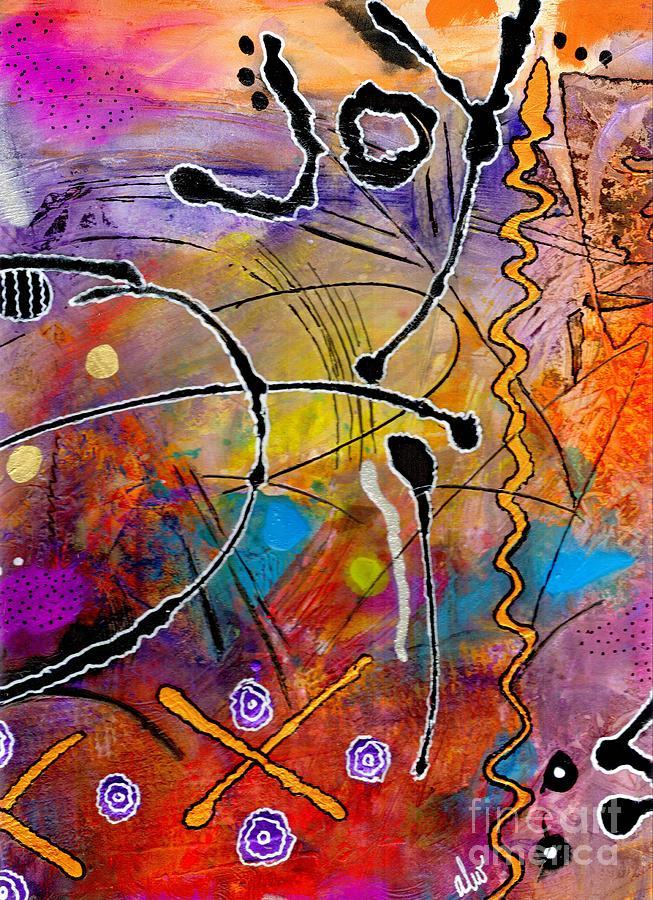 Love Painting - Love Of Life Series - Joy by Angela L Walker