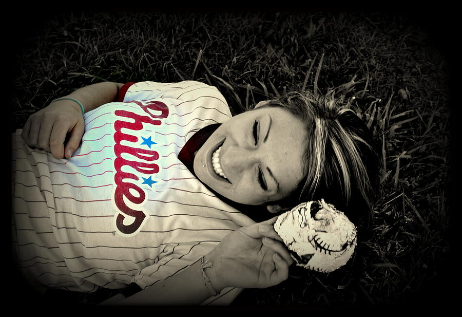 Phillies Photograph - Love Of The Game by Ashley Branstetter