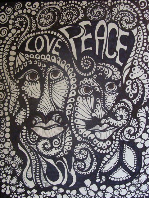 Love Peace Joy Drawing By Gerri Rowan