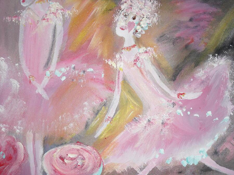 Ballet Painting - Love Rose Ballet by Judith Desrosiers