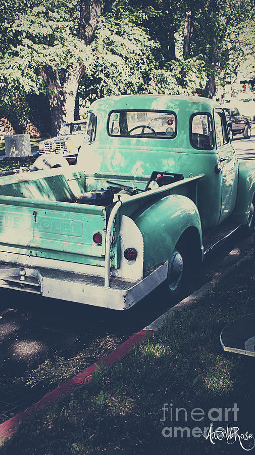 Cars Photograph - Love The Truck by Awildrose Photography