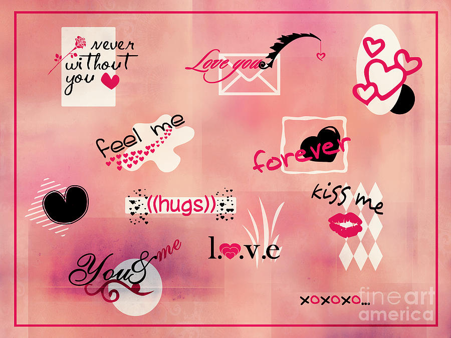 Love Words Valentines Card Digital Art by Aimelle – Valentine Card Words