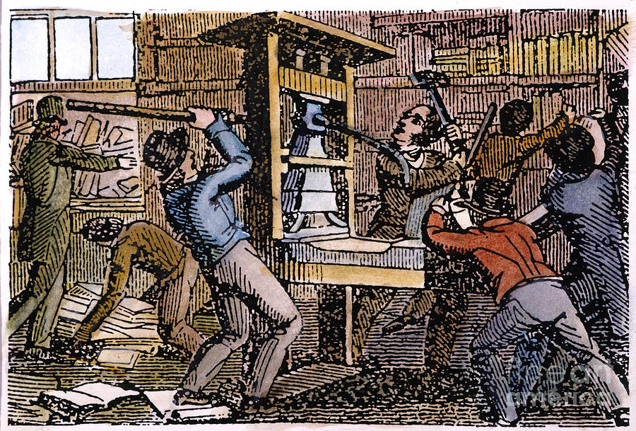 1837 Photograph - Lovejoys Printing Press by Granger