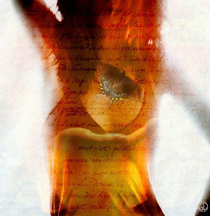 Woman Digital Art - Loveletter by Gun Legler