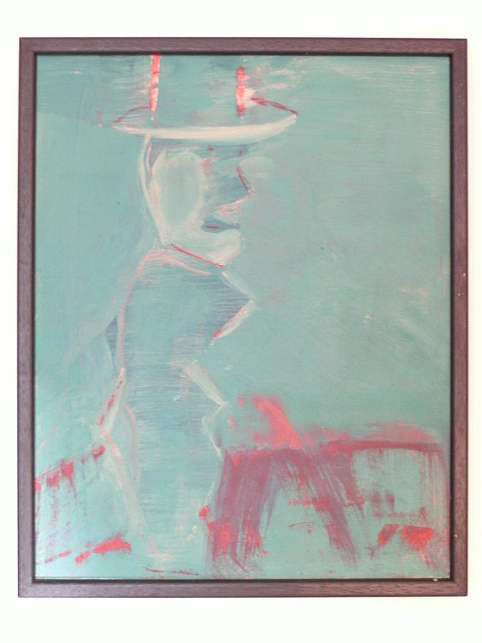 Figure Painting - Lover With Hat On Fire  by Harry  Nash