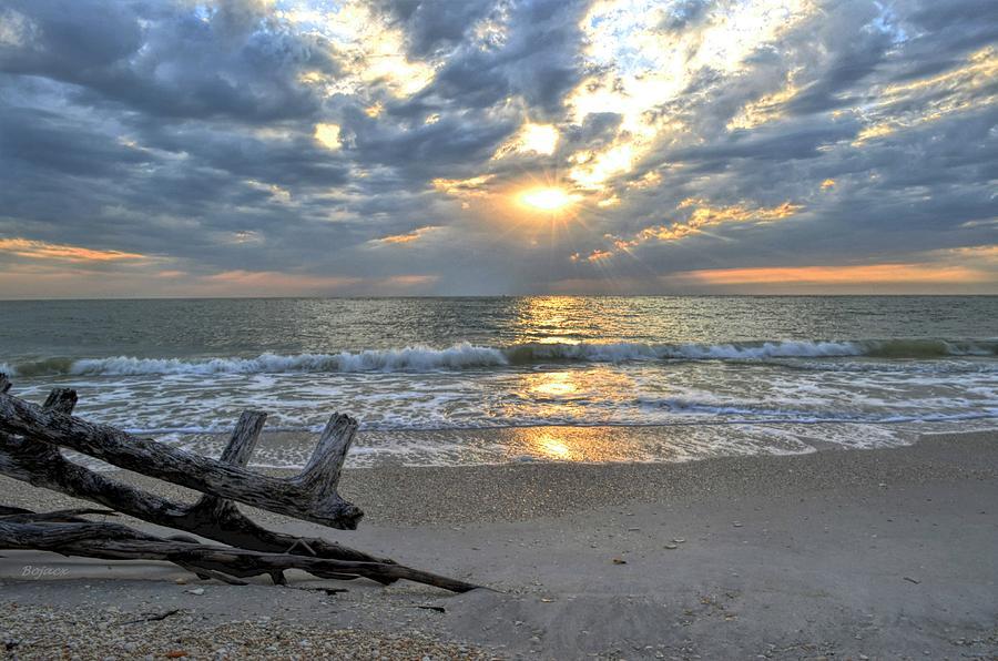 Sunset Photograph - Lovers Key by Bob Jackson