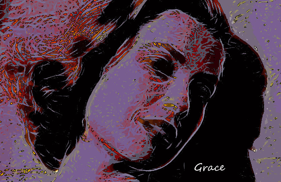 Shinning Through Love Loves Grace Kelly Pop Art Modern Painting Famous Actress Face Princess Queen Monaco Star Beauty Portrait  Painting - Loves Shinning Through by Steve K