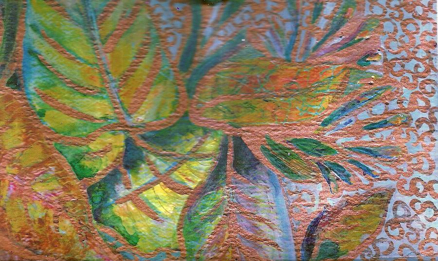 Leaves Painting - Loving Leaves  by Anne-Elizabeth Whiteway