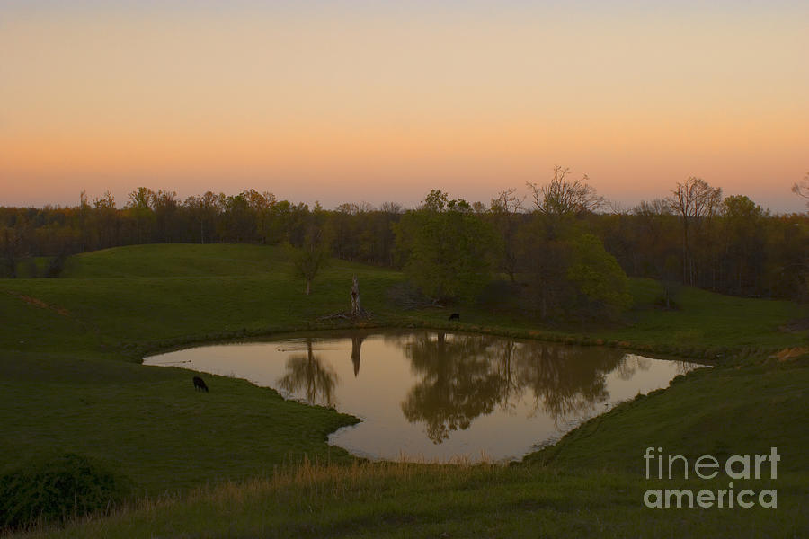 Farm House Photograph - Loving The Sunset by Cris Hayes
