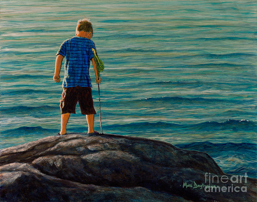 Summer Painting - Low Tide by Marc Dmytryshyn