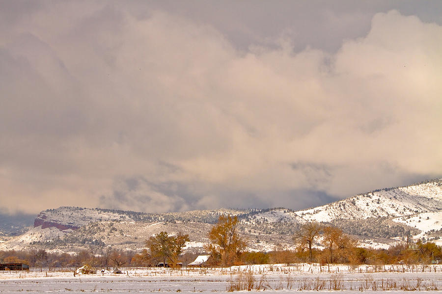 Winter  - Low Winter Storm Clouds Colorado Rocky Mountain Foothills 5 by James BO Insogna