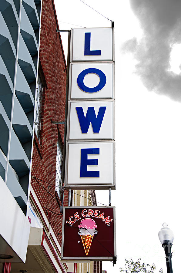 Nostalgia Photograph - Lowe Drug Store Sign Color by Andee Design