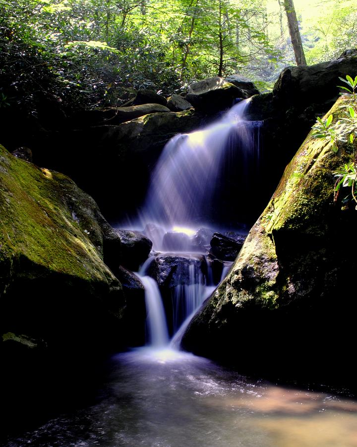 Grotto Falls Photograph - Lower Grotto Falls by Frozen in Time Fine Art Photography
