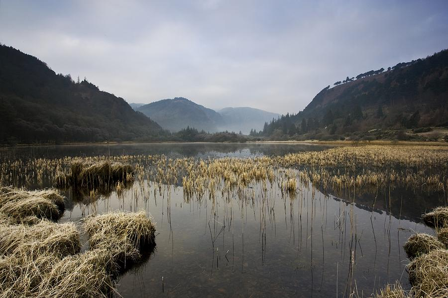 County Wicklow Photograph - Lower Lake, Glendalough, County by Peter McCabe