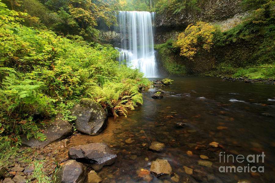 South Falls Photograph - Lower South Falls by Adam Jewell