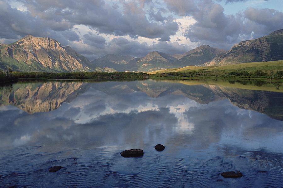 Lower Waterton Lake, Boundary Mountain Photograph by Gerry Ellis