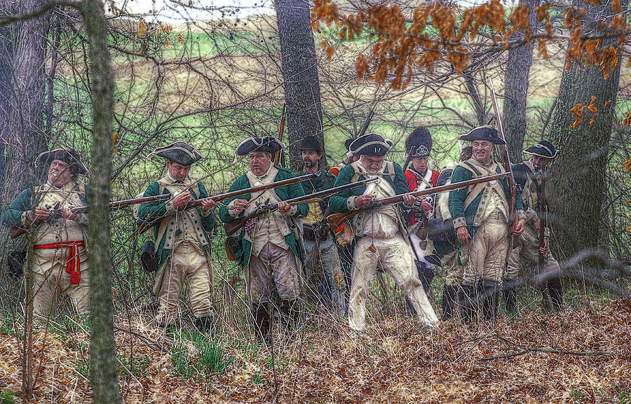 Battle Digital Art - Loyalist Skirmishers Revolutionary War   by Randy Steele