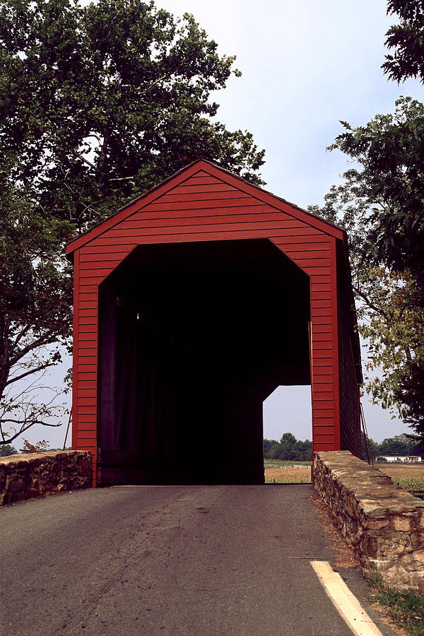 1848 Photograph - Loys Station Covered Bridge by Sally Weigand