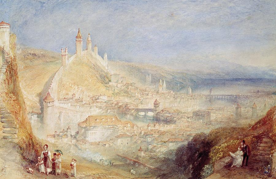 Landscapes Painting - Lucerne From The Walls by Joseph Mallord William Turner