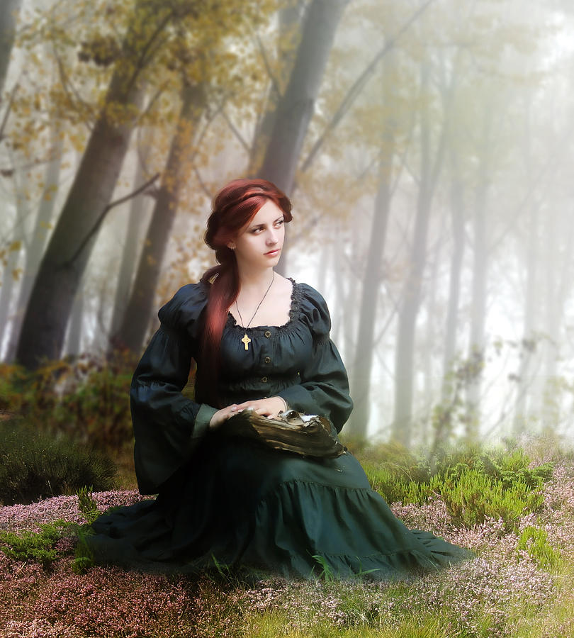 Woman Digital Art - Lucid Contemplation by Mary Hood