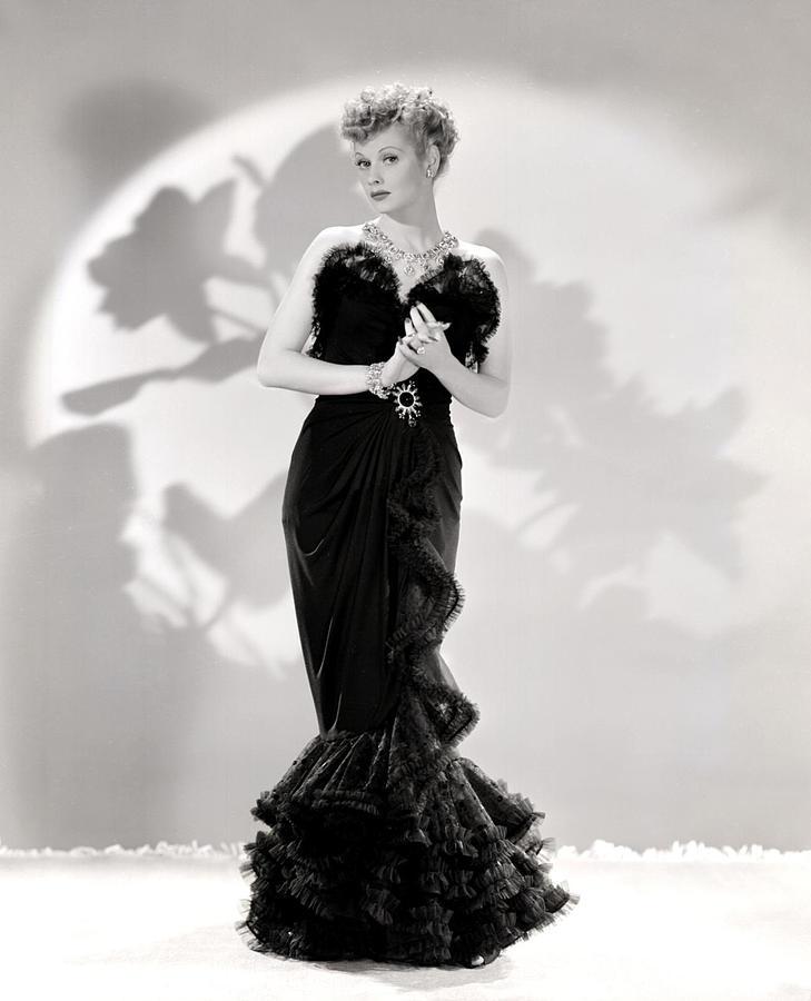 Ball Photograph - Lucille Ball Models A Lovely Black by Everett