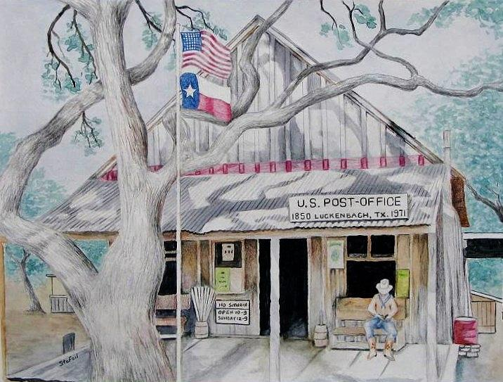 Luckenbach Painting - Luckenbach by Stefon Marc Brown