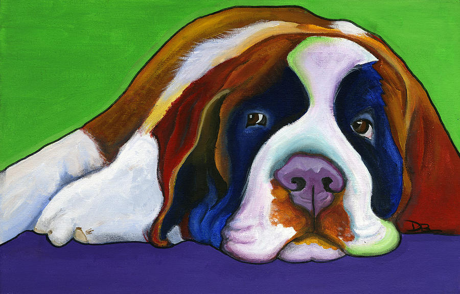 Bernese Painting - Lucy by Debbie Brown
