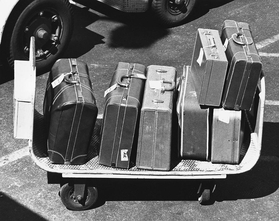 Horizontal Photograph - Luggage by George Marks