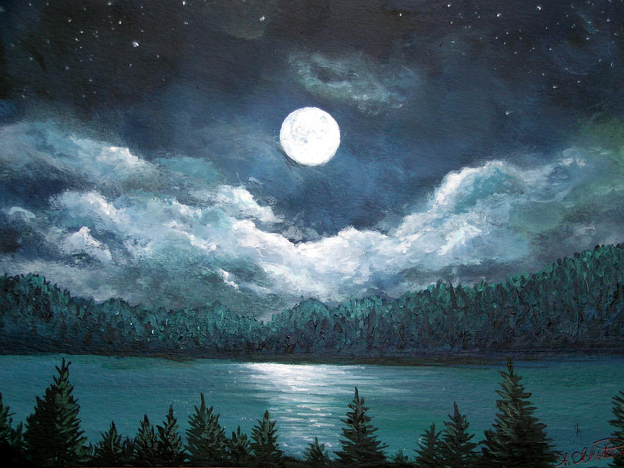 Luminous Lake Painting By Amy Scholten
