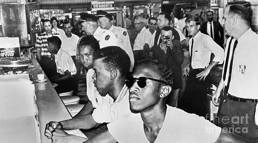 1961 Photograph - Lunch Counter Sit-in, 1961 by Granger