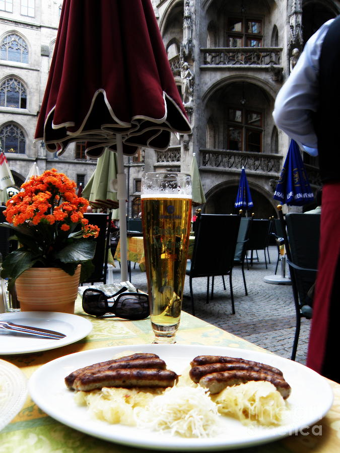 Food And Beverage Photograph - Lunch Time In Munich Germany by Tanya  Searcy