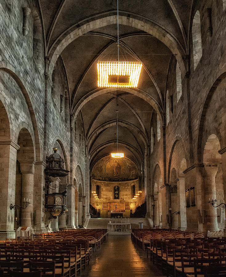 Cathedral Photograph - Lund Cathedral by Wade Aiken