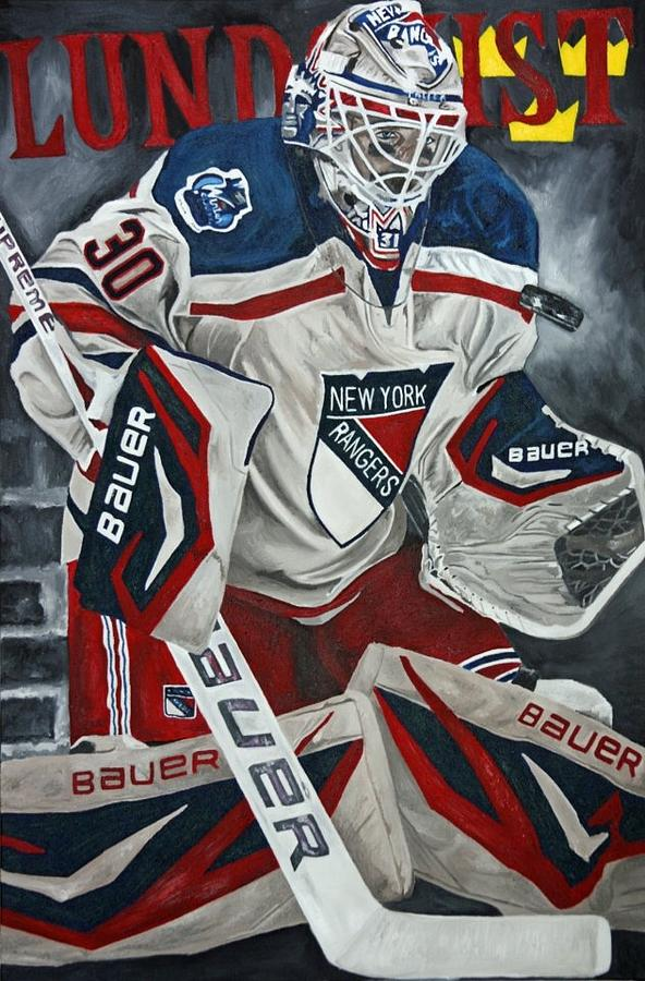 New York Rangers Painting - Lundqvist by David Courson