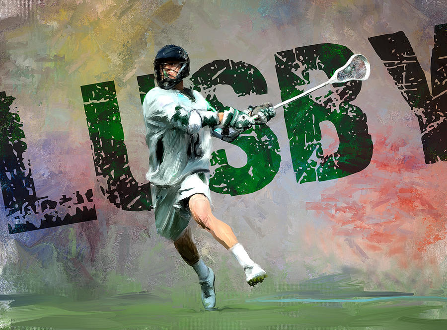 Lacrosse Painting - Lusby Lacrosse by Scott Melby