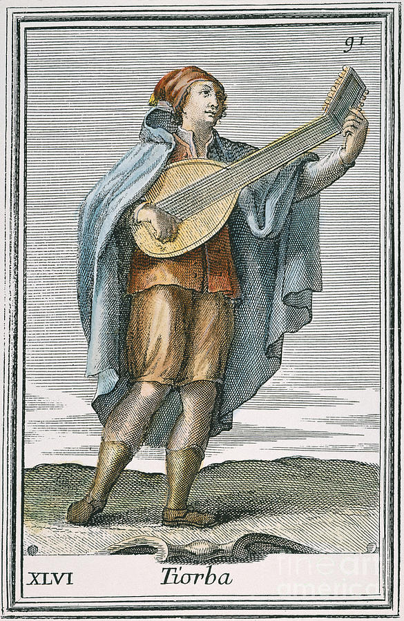 1723 Photograph - Lute, 1723 by Granger