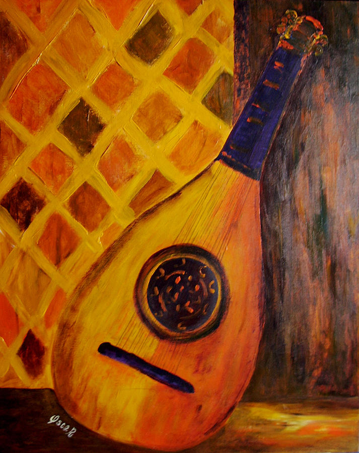 Still Life Painting - Lute By The Window by Oscar