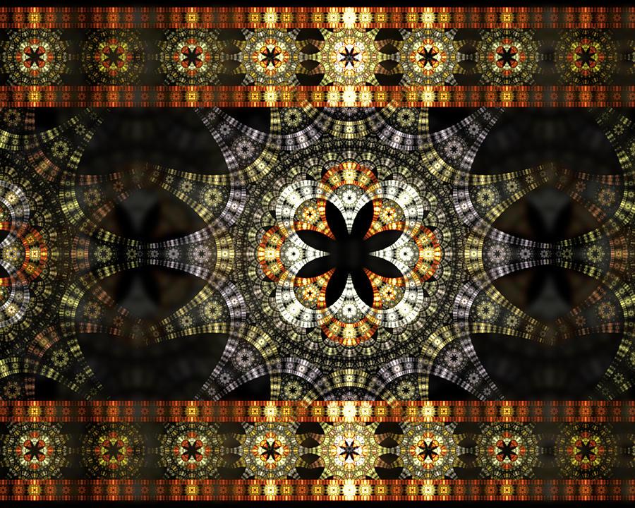 Fractal Digital Art - Luxor Sola by Drake Lock