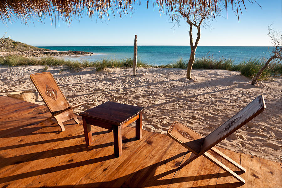 Nobody Photograph - Luxurious Terrace On The Beach by Pierre-Yves Babelon