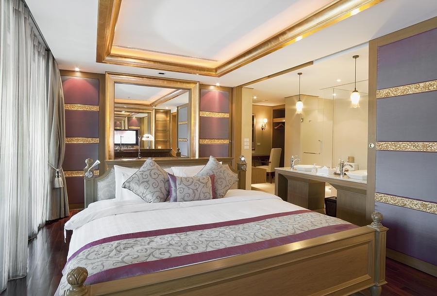 Bedroom Photograph - Luxury Bedroom by Setsiri Silapasuwanchai