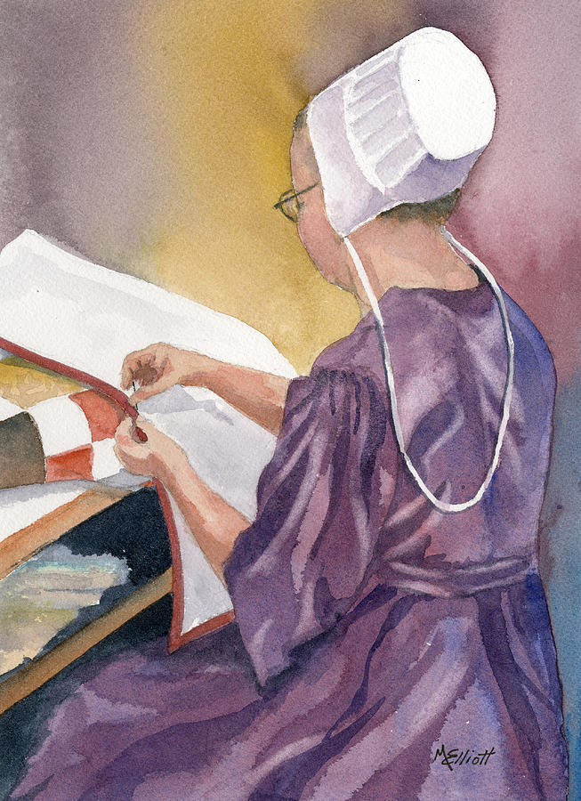 Amish Painting - Lydia by Marsha Elliott