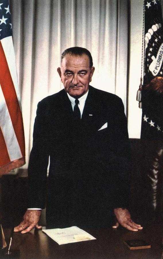 Desk Photograph - Lyndon Johnson 1908-1972, U.s by Everett