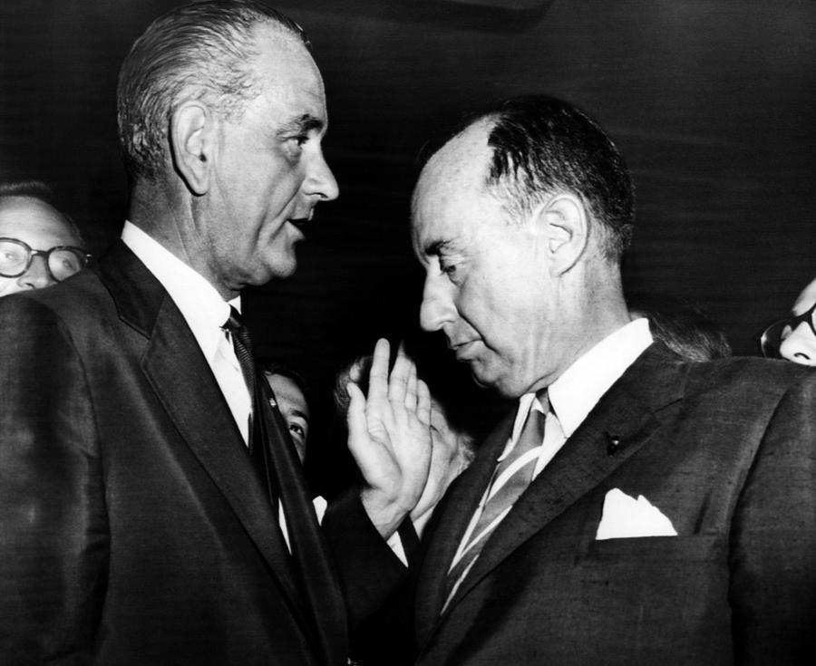 1950s Photograph - Lyndon Johnson. Us Senate Majority by Everett