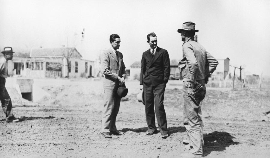 History Photograph - Lyndon Johnson Visiting A National by Everett