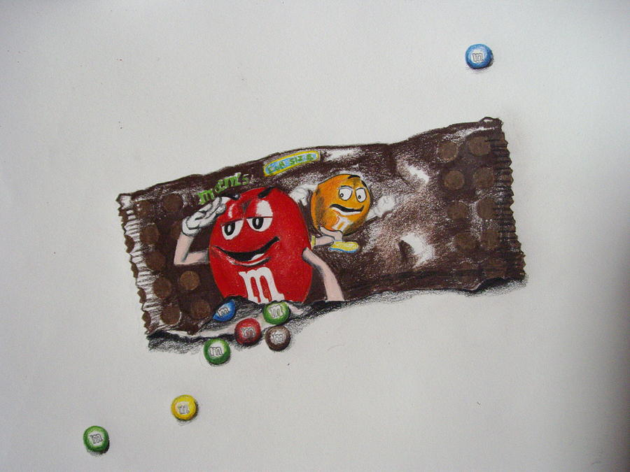 It's just an image of Canny M&m Drawing