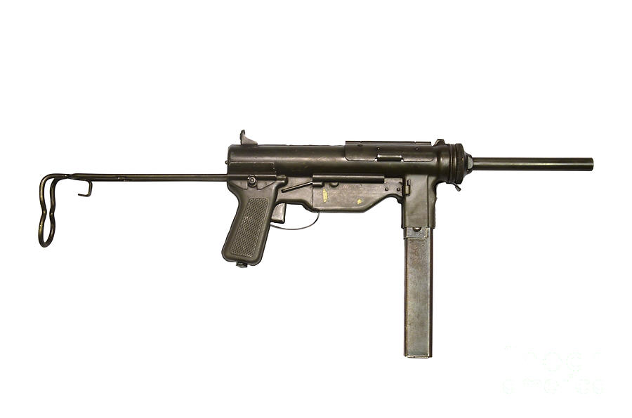 Single Object Photograph - M3a1 Submachine Gun, 45 Caliber by Andrew Chittock