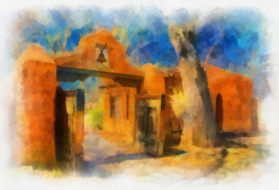 Santa Digital Art - Mabels Gate Watercolor by Charles Muhle