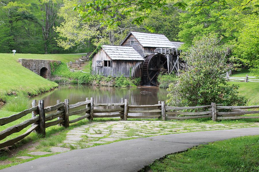 Mabry Mill Beyond The Rustic Fence Photograph By Vickie