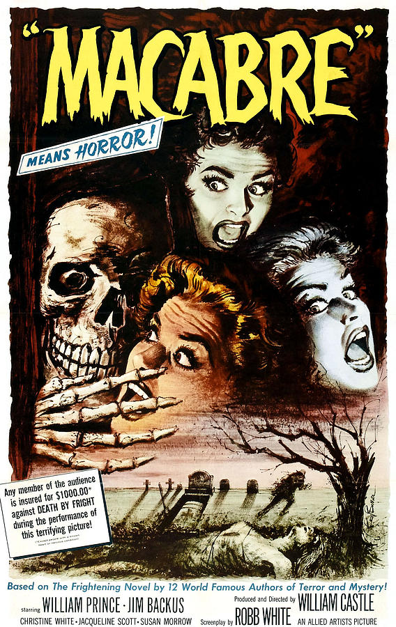 1950s Poster Art Photograph - Macabre, 1958 by Everett